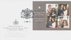Prins William en Catherine Middleton, Koninklijke Overeenkomst - Huwelijk Stock Afbeelding