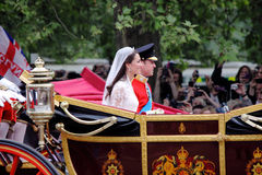 Prins William en het huwelijk van Catherine Stock Foto's