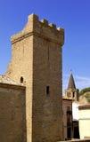 Prinsar av den Viana slotten och Santa Maria la Real Church i Sangà ¼ esa, Fotografering för Bildbyråer