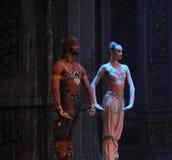 Prinsen och prinsessan av Indien det andra för handling för fältgodis i andra hand kungariket - balettnötknäpparen Arkivbild