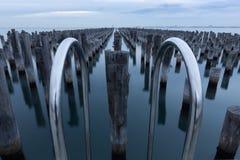 Prinsen Pier Pylons, Melbourne, Australië royalty-vrije stock afbeeldingen