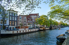 Prinsengracht运河在阿姆斯特丹 库存照片