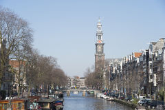 Prinsengracht in Amsterdam Royalty Free Stock Image