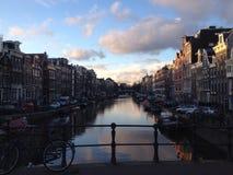 Prinsengracht Amsterdam przy zimą Zdjęcia Stock