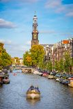 Prinsengracht-Kanal in Amsterdam lizenzfreies stockbild