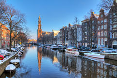 Prinsengracht winter Stock Image