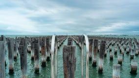 Prinsenpijler, Haven Melbourne, Australië Stock Afbeeldingen
