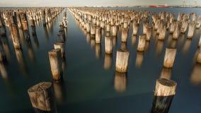Prinsenpijler, Melbourne, Australië Stock Foto
