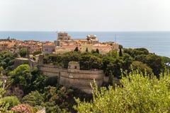 Prinsens slott i Monaco-Ville Arkivbild