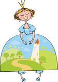 Prinses stock illustratie