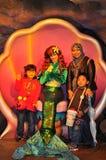 Prinses Ariel en een familie bij het Overzees van Tokyo Disney Royalty-vrije Stock Fotografie