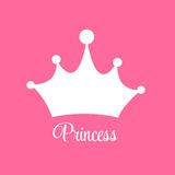 Prinses Background met Kroonvector Royalty-vrije Stock Afbeeldingen