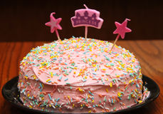 Prinses Birthday Cake Royalty-vrije Stock Afbeelding