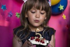 Prinses Birthday Party Maak een wensconcept Verjaardag, happi Stock Afbeelding