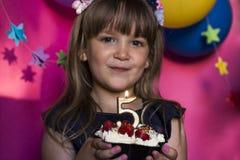 Prinses Birthday Party Verjaardag, geluk, onbezorgde childh Royalty-vrije Stock Foto