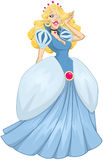 Prinses Cinderella In Blue Dress Stock Fotografie