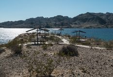 Prinses Cove, Meer Mohave, Arizona stock afbeelding