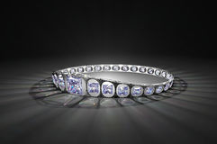 Prinses Cut Diamond Crown Stock Foto's