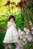 Prinses in de tuin Royalty-vrije Stock Afbeeldingen