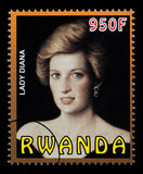 Prinses Diana Postage Stamp Royalty-vrije Stock Afbeeldingen