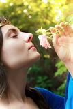 Prinses en bloem Royalty-vrije Stock Foto
