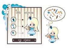 Prinses en candy2 Royalty-vrije Stock Afbeeldingen