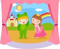 Prinses en kikker Stock Afbeelding