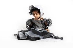 prinses kleding en bonnet stock afbeelding