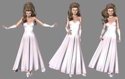 Prinses in Lichtrose Kleding Stock Foto