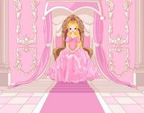 Prinses op de troon royalty-vrije illustratie