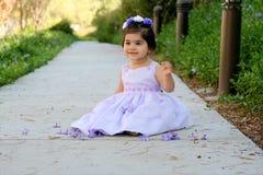 Prinses in purple Stock Foto's