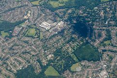 Prinses Royal University Hospital, Bromley - luchtmening Royalty-vrije Stock Fotografie