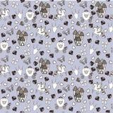 Prinses Seamless Pattern voor textiel met kasteel, kroon, vlinder, diamant Abstract naadloos patroon voor meisjes Stock Foto