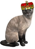 Prinses Siamese Cat Isolated Illustration Stock Foto's