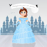 Prinses voor een dag royalty-vrije illustratie