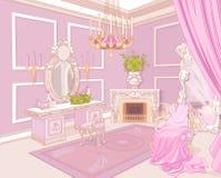 Prinseskleedkamer stock illustratie