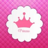 Prinsessa Background med kronavektorn Royaltyfri Bild
