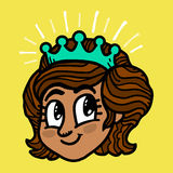 Prinsessa Cartoon stock illustrationer