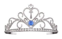 Prinsessa Diadem, tiara som isoleras på vit royaltyfri illustrationer