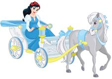 Prinsessa i kunglig vagn Royaltyfri Bild