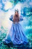 Prinsessa i magisk skog Royaltyfria Foton