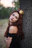 Prinsessa i skogen royaltyfria bilder