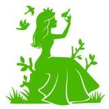 Prinsessa i skogen Arkivbild
