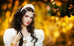 Prinsessa i skogen Fotografering för Bildbyråer