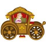 Prinsessa i vagn Arkivfoto