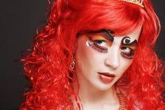 Prinsessa med ljust rött hår Arkivfoton
