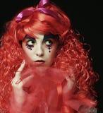 Prinsessa med ljust rött hår Arkivbilder