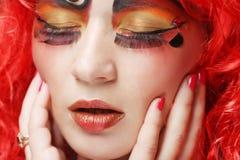 Prinsessa med ljust rött hår Arkivbild