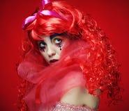 Prinsessa med ljust rött hår Arkivfoto