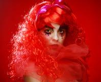 Prinsessa med ljust rött hår Royaltyfri Fotografi